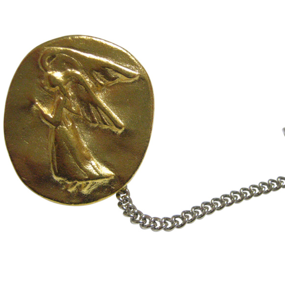 Oval Angel Pendant Tie Tack